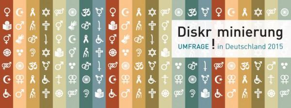 Wort-Bild Marke der Umfrage der Antidiskriminerungsstelle des Bundes zu Diskriminierungserfahrungen in Deutschland 2015